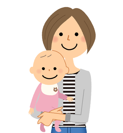 Mother and baby Stock Illustratie
