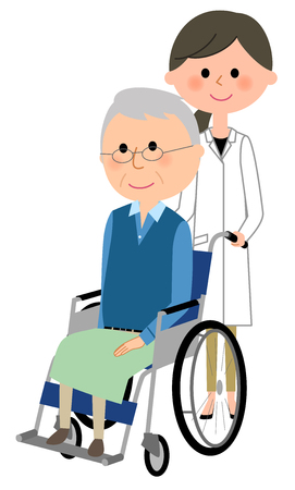 Doctors and wheelchair patients