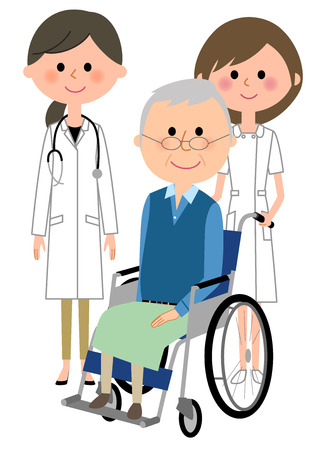 Doctor, nurse and patient  イラスト・ベクター素材