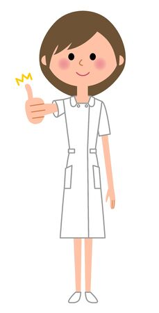 Nurse, Thumbs up