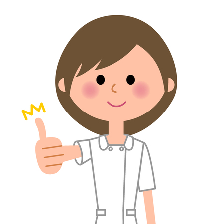 Nurse, Thumbs up