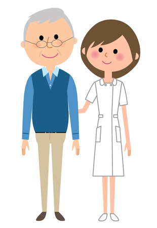 Nurse and Patient illustration