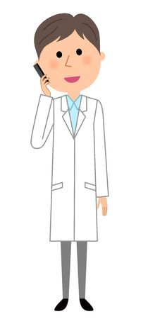 The male of the white coat. Illustration