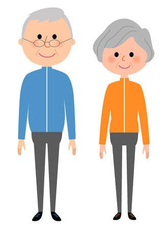Elderly couple, Sportswear