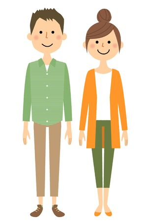 Young couple illustration.