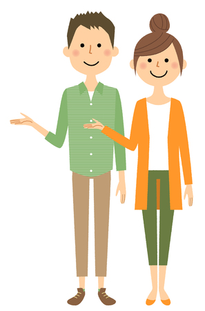 Young couple, Explanation illustration.