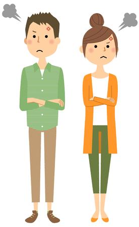 Jeune couple, colère
