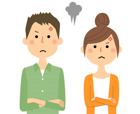 Young couple, Anger