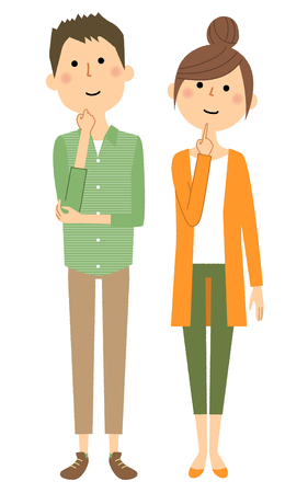 Young couple imagine illustration