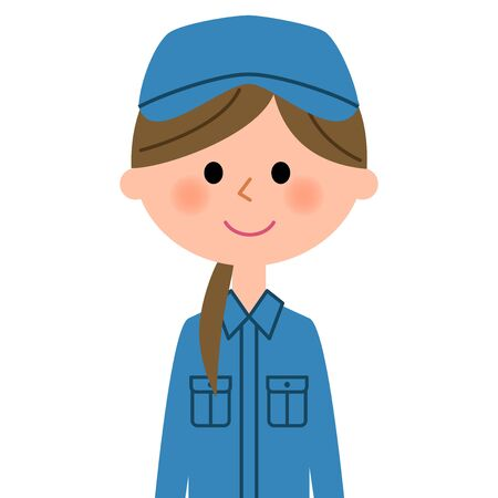Female worker icon.