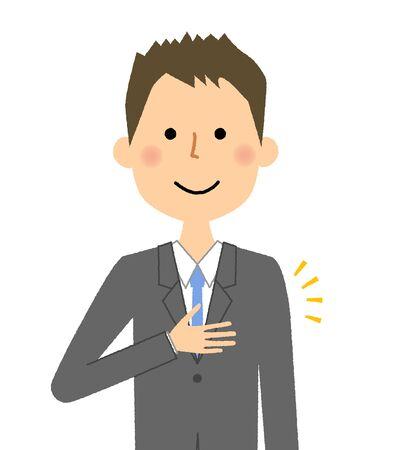 Businessman vector illustration isolated on white background.