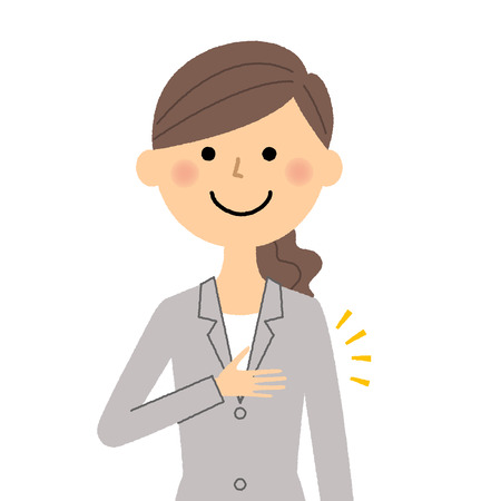 Businesswoman, Please choose for me isolated illustration on white background Illustration