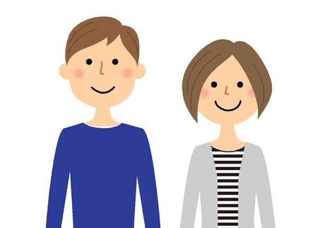 Young couple vector illustration