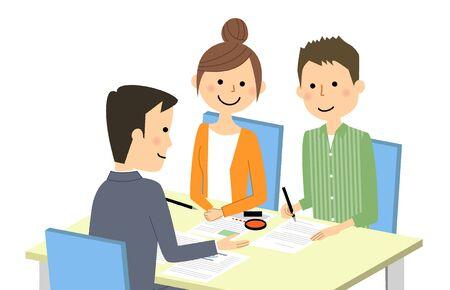 Spotkanie i podpisanie umowy Ilustracje wektorowe