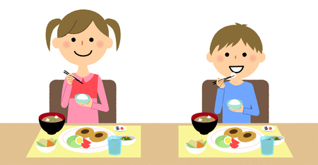 Children eating icon.