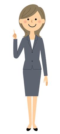 Businesswoman, Finger pointing Stock Vector - 101683961
