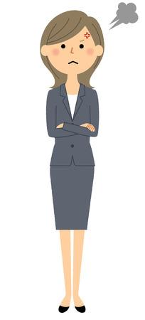 Businesswoman, Anger