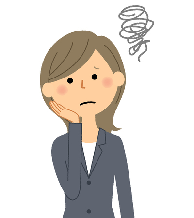 Businesswoman, Be worried Illustration