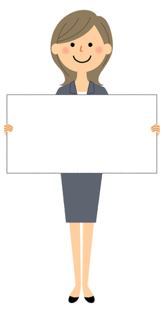 Businesswoman, White board