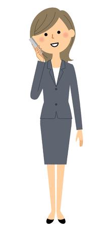 Businesswoman, Phone
