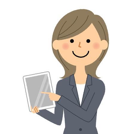 Businesswoman, Tablet