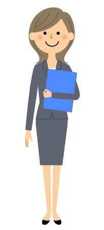 Businesswoman, Having files