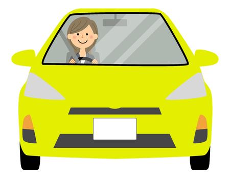 My car Commuter businesswoman Illusztráció