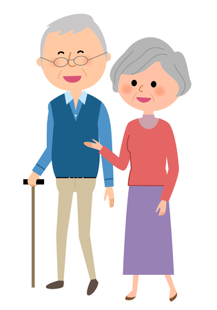 Elderly couple, Walk
