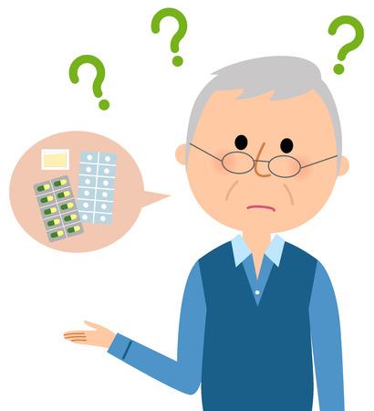 Älterer Mann, Medizin, Vergessen