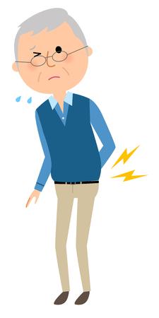 Elderly man, Low back pain