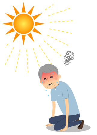 Elderly man who became heatstroke