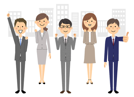 Business team, People in suit