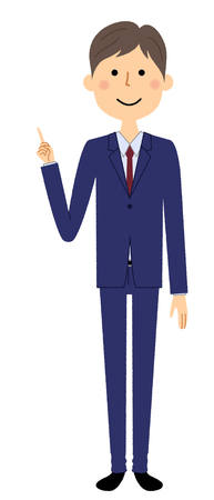 Businessman, Finger pointing Vektorové ilustrace