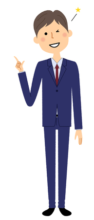 Businessman, Finger pointing