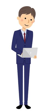 Businessman, Laptop