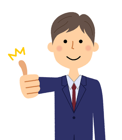 Businessman, Thumbs up