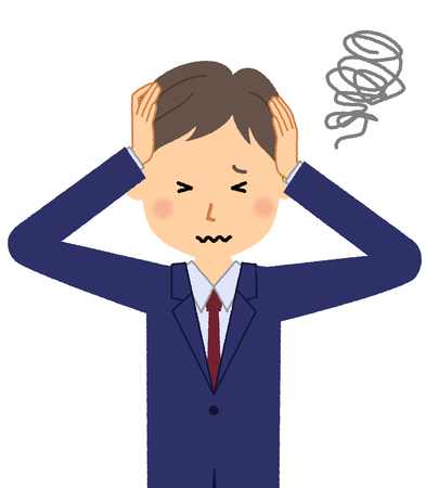 Businessman, To hold a head Illustration