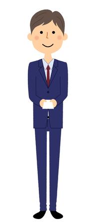 Businessman, Business card exchange