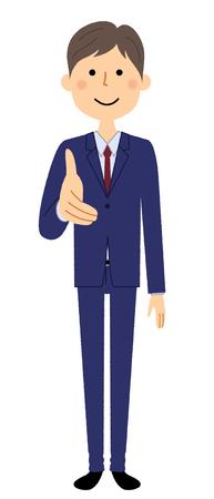 Businessman, Shake hands Stock Illustratie