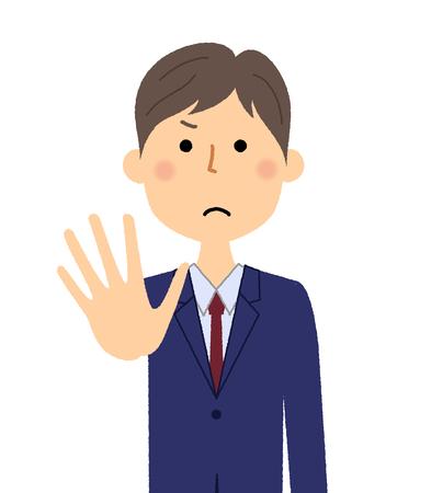 Businessman, Restraint Vector Illustration