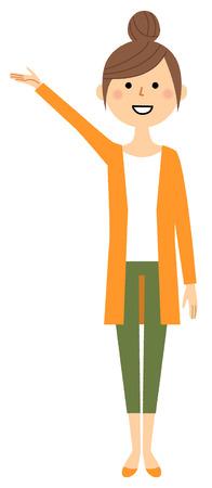 Mujer joven, mamá, explicación Ilustración de vector