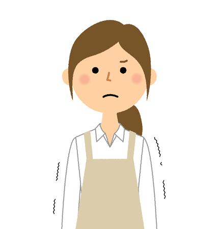 Woman wearing apron, Regrettable Illustration