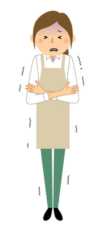 Woman wearing apron, Chilly