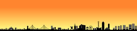Kobe, Japan Stock Illustratie