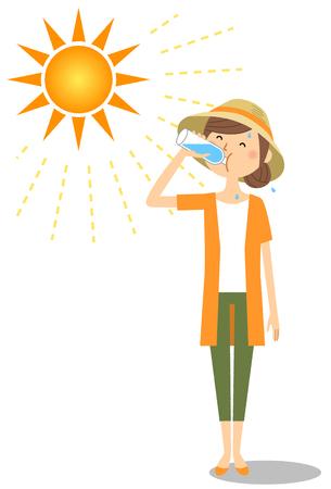 Jeune femme alimentation hydratation