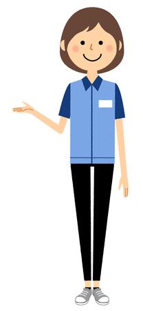 Female clerk, explanation