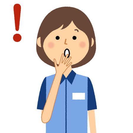 Female clerk, To be surprised Illustration
