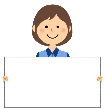 Female clerk, White board