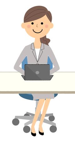 Businesswoman, Laptop