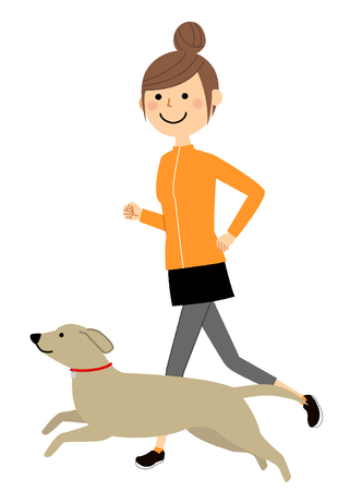 Young woman, Jogging